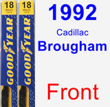 Front Wiper Blade Pack for 1992 Cadillac Brougham - Premium
