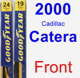 Front Wiper Blade Pack for 2000 Cadillac Catera - Premium