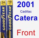 Front Wiper Blade Pack for 2001 Cadillac Catera - Premium
