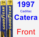 Front Wiper Blade Pack for 1997 Cadillac Catera - Premium