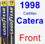 Front Wiper Blade Pack for 1998 Cadillac Catera - Premium
