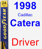 Driver Wiper Blade for 1998 Cadillac Catera - Premium