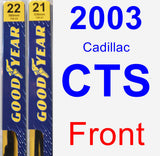 Front Wiper Blade Pack for 2003 Cadillac CTS - Premium