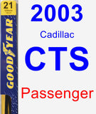 Passenger Wiper Blade for 2003 Cadillac CTS - Premium