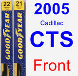 Front Wiper Blade Pack for 2005 Cadillac CTS - Premium