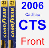 Front Wiper Blade Pack for 2006 Cadillac CTS - Premium