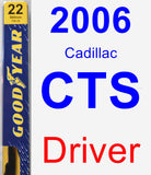 Driver Wiper Blade for 2006 Cadillac CTS - Premium