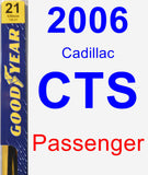 Passenger Wiper Blade for 2006 Cadillac CTS - Premium