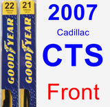 Front Wiper Blade Pack for 2007 Cadillac CTS - Premium