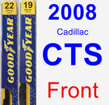 Front Wiper Blade Pack for 2008 Cadillac CTS - Premium