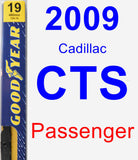Passenger Wiper Blade for 2009 Cadillac CTS - Premium