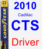 Driver Wiper Blade for 2010 Cadillac CTS - Premium