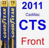 Front Wiper Blade Pack for 2011 Cadillac CTS - Premium