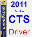 Driver Wiper Blade for 2011 Cadillac CTS - Premium