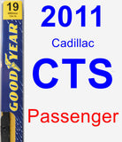 Passenger Wiper Blade for 2011 Cadillac CTS - Premium