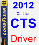Driver Wiper Blade for 2012 Cadillac CTS - Premium