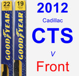 Front Wiper Blade Pack for 2012 Cadillac CTS - Premium