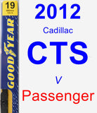 Passenger Wiper Blade for 2012 Cadillac CTS - Premium
