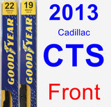 Front Wiper Blade Pack for 2013 Cadillac CTS - Premium