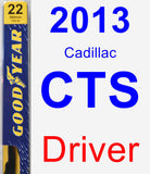Driver Wiper Blade for 2013 Cadillac CTS - Premium
