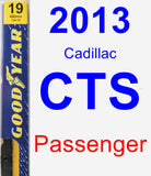 Passenger Wiper Blade for 2013 Cadillac CTS - Premium