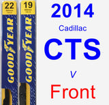 Front Wiper Blade Pack for 2014 Cadillac CTS - Premium