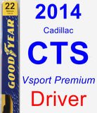 Driver Wiper Blade for 2014 Cadillac CTS - Premium