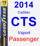 Passenger Wiper Blade for 2014 Cadillac CTS - Premium