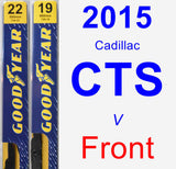 Front Wiper Blade Pack for 2015 Cadillac CTS - Premium