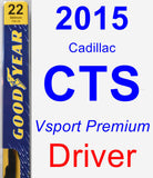 Driver Wiper Blade for 2015 Cadillac CTS - Premium
