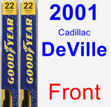 Front Wiper Blade Pack for 2001 Cadillac DeVille - Premium