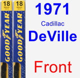 Front Wiper Blade Pack for 1971 Cadillac DeVille - Premium