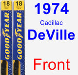 Front Wiper Blade Pack for 1974 Cadillac DeVille - Premium