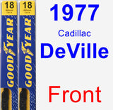 Front Wiper Blade Pack for 1977 Cadillac DeVille - Premium