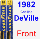 Front Wiper Blade Pack for 1982 Cadillac DeVille - Premium