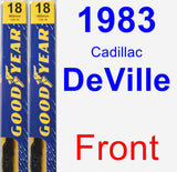 Front Wiper Blade Pack for 1983 Cadillac DeVille - Premium