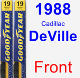 Front Wiper Blade Pack for 1988 Cadillac DeVille - Premium
