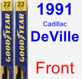Front Wiper Blade Pack for 1991 Cadillac DeVille - Premium
