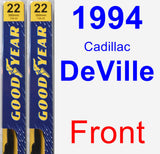 Front Wiper Blade Pack for 1994 Cadillac DeVille - Premium