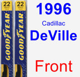 Front Wiper Blade Pack for 1996 Cadillac DeVille - Premium