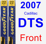 Front Wiper Blade Pack for 2007 Cadillac DTS - Premium