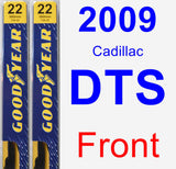 Front Wiper Blade Pack for 2009 Cadillac DTS - Premium