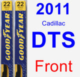 Front Wiper Blade Pack for 2011 Cadillac DTS - Premium