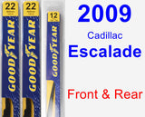 Front & Rear Wiper Blade Pack for 2009 Cadillac Escalade - Premium