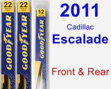 Front & Rear Wiper Blade Pack for 2011 Cadillac Escalade - Premium