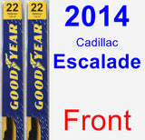 Front Wiper Blade Pack for 2014 Cadillac Escalade - Premium