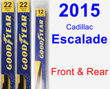 Front & Rear Wiper Blade Pack for 2015 Cadillac Escalade - Premium