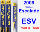 Front & Rear Wiper Blade Pack for 2009 Cadillac Escalade ESV - Premium