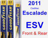 Front & Rear Wiper Blade Pack for 2011 Cadillac Escalade ESV - Premium