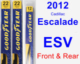 Front & Rear Wiper Blade Pack for 2012 Cadillac Escalade ESV - Premium